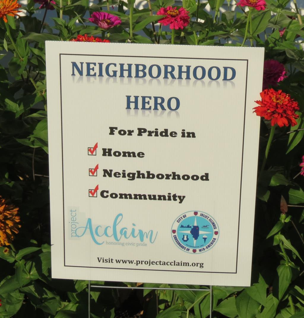 2016 Neighborhood Hero Sign