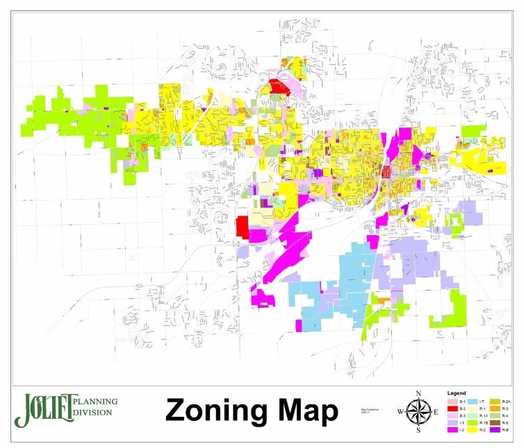 Zoning City Of Joliet IL - Joliet map
