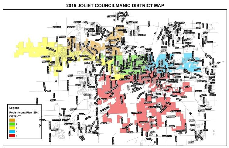 Joliet Il Zip Code Map.City Council City Of Joliet Il
