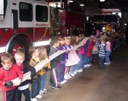 Children learning about the firehose