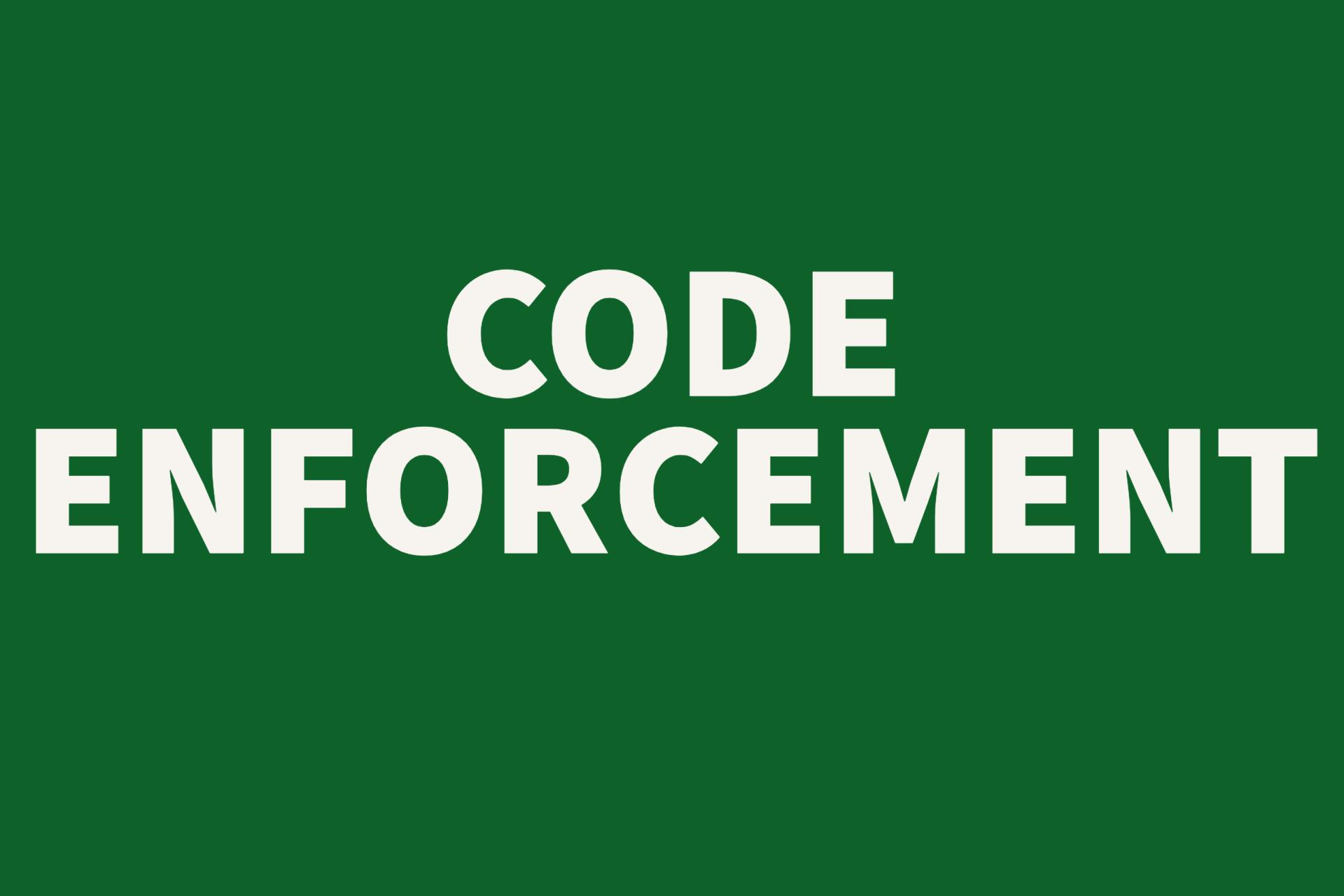 Code Enforcement Button