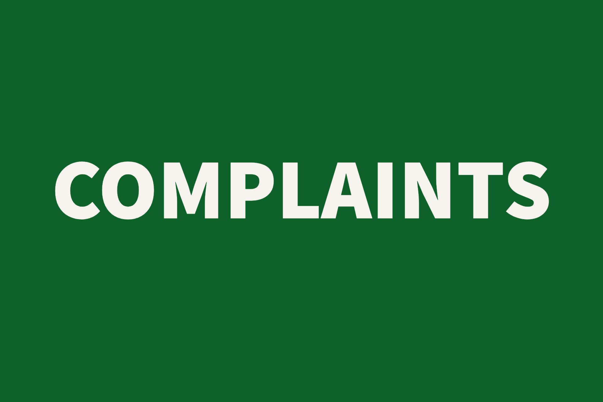Complaints Button
