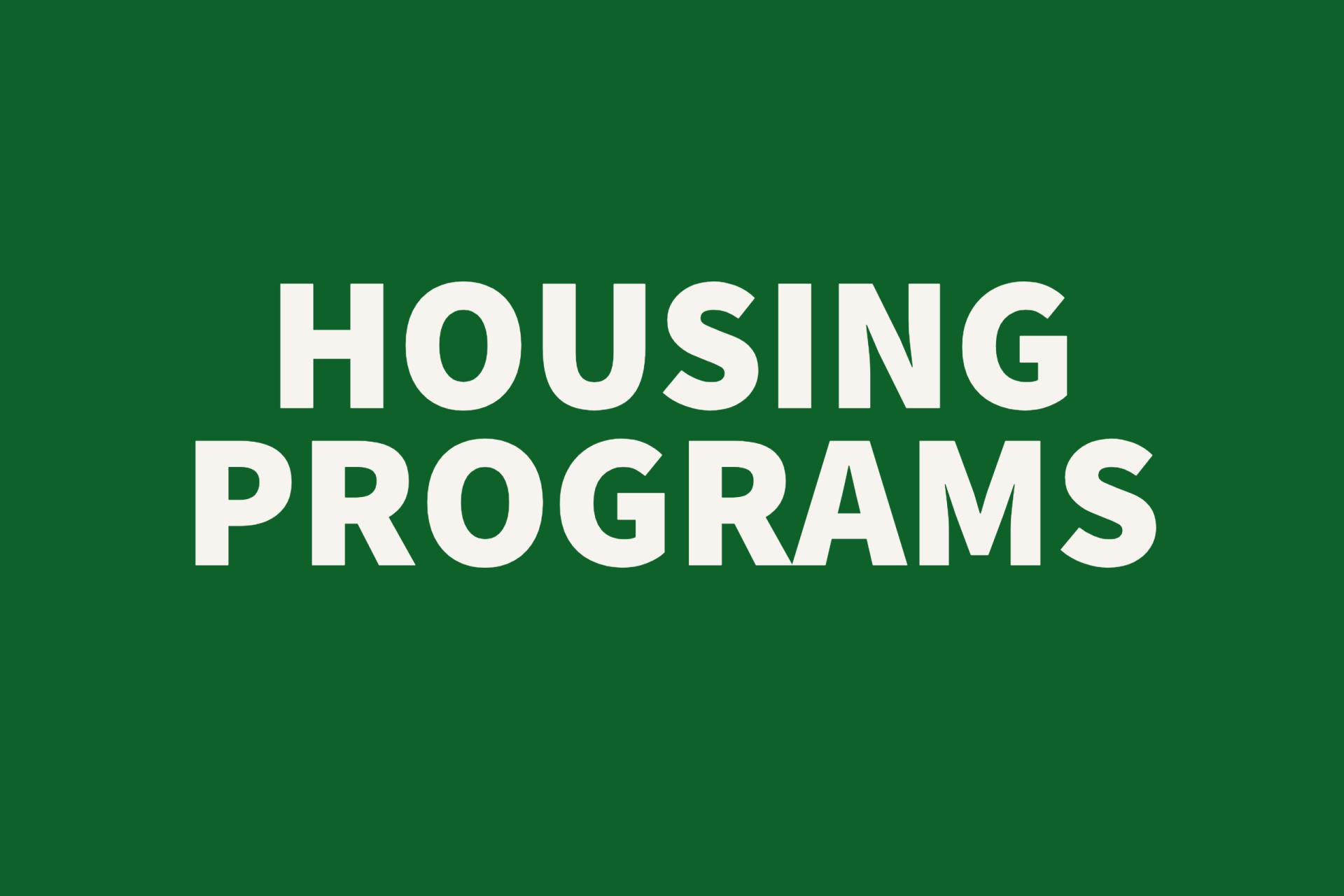 Housing Programs Button