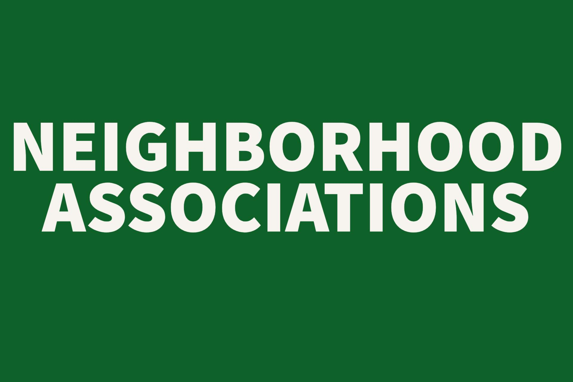 Neighborhood Associations Button