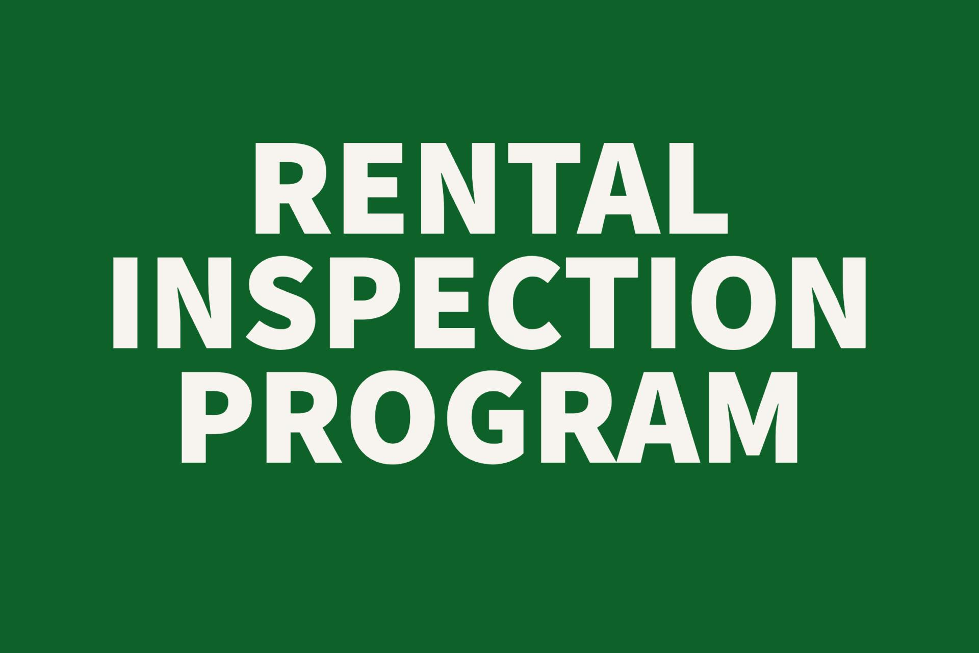 Rental Inspection Button