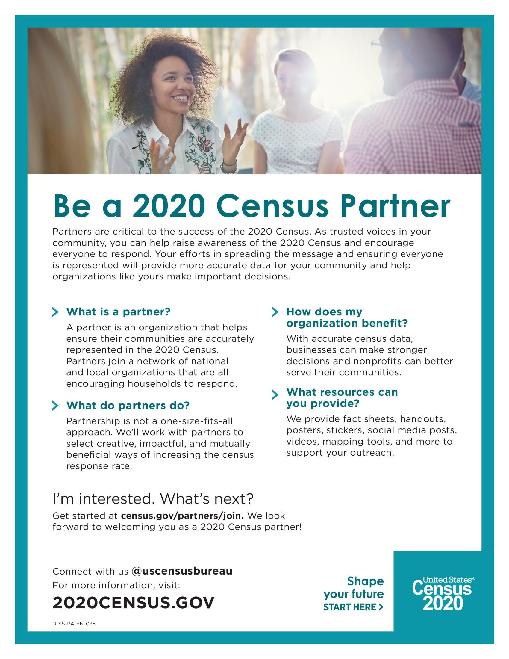 2020 Census Partner Fact Sheet