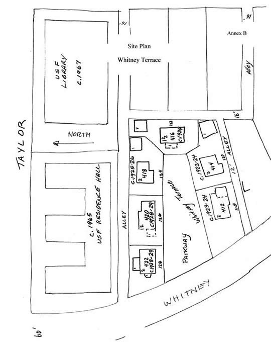Image of Whitney Terrace Local Historic District Map